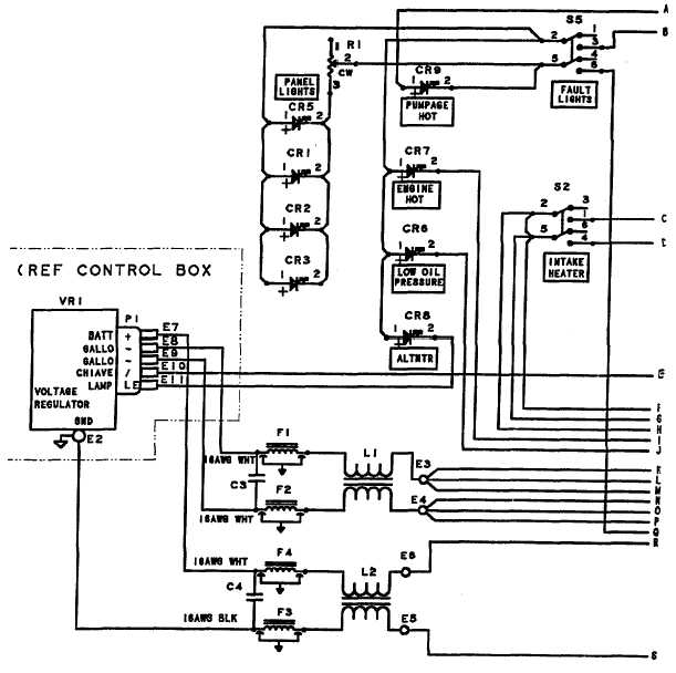 TM 10 4320 351 14_265_1 figure j 1 control panel wiring diagram (sheet 1 of 2)