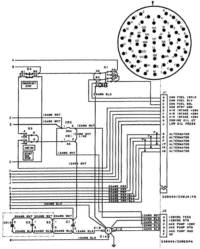 TM 10 4320 351 14_266_1 figure j 1 control panel wiring diagram (sheet 2 of 2)
