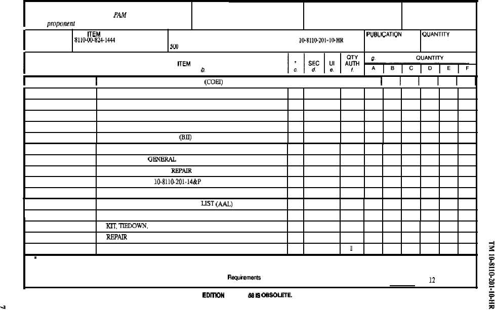 Section II. HAND RECEIPT CONT. - TM-10-8110-201-10-HR_11