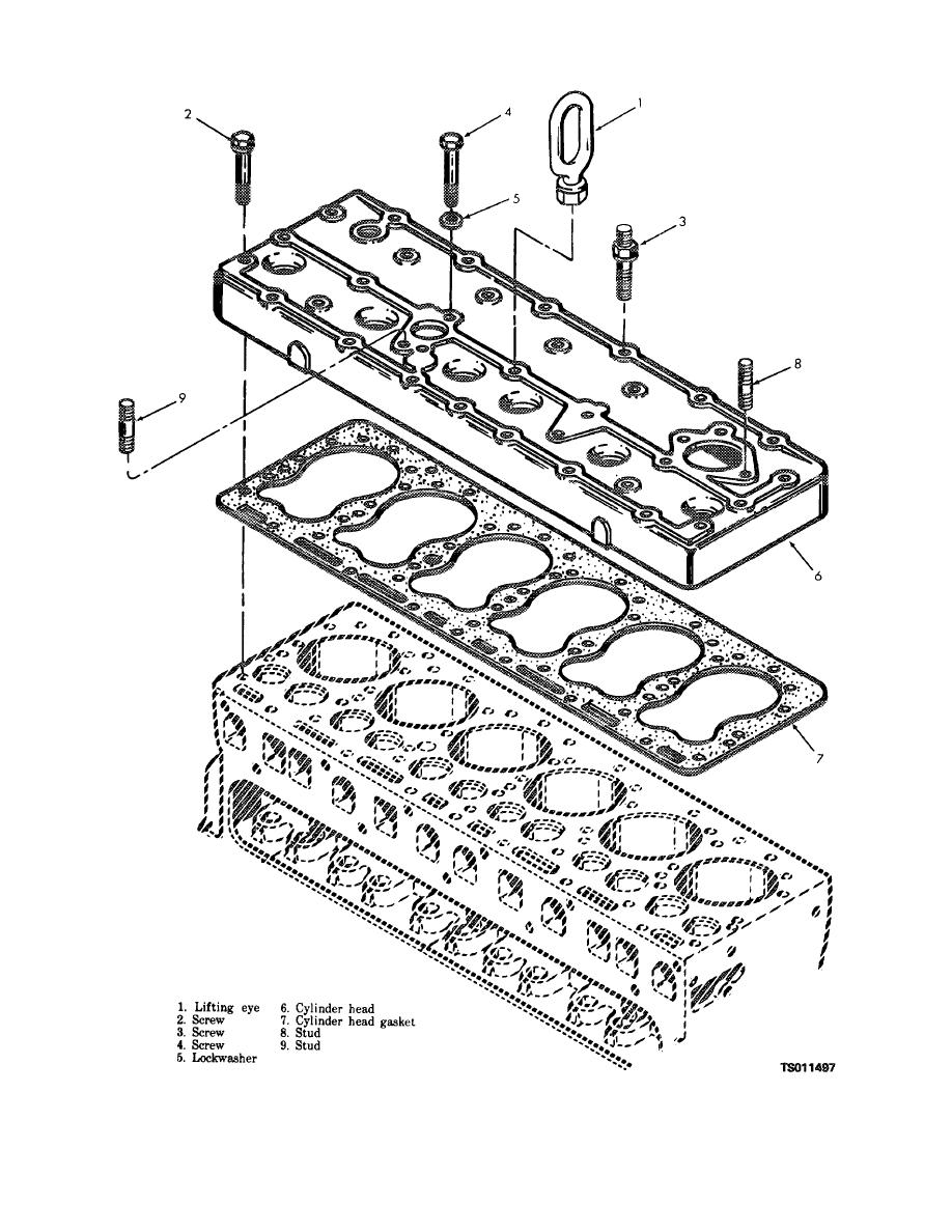 figure 4-1  cylinder head  exploded view